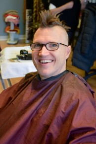 buzzz! author james campion shaves it all off!